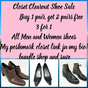 Shoe bundle sale 3 for 1: pay highest price 2 free